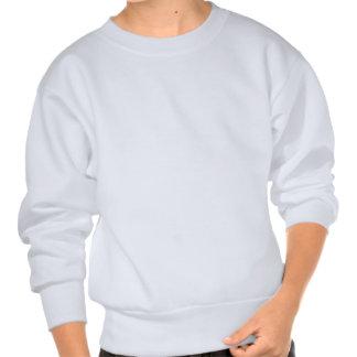 Zigzag - White and Sapphire Pullover Sweatshirts