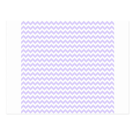 Zigzag Wide  - White and Pale Lavender Postcards