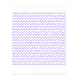 Zigzag Wide  - White and Pale Lavender Postcard