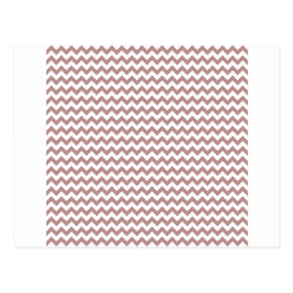 Zigzag Wide  - White and Rosy Brown Post Card