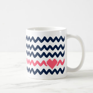 Zigzag with Heart Coffee Mug