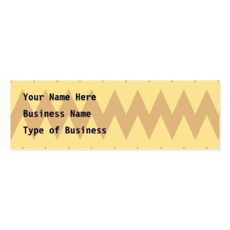 Zigzags bronzages et brun clair carte de visite petit format
