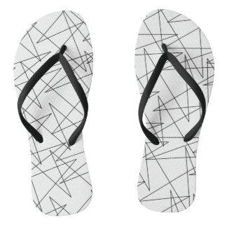 Zigzags Flip Flops