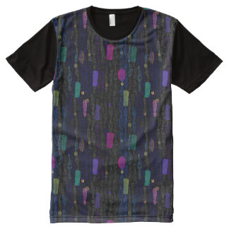 Zigzags vertical from lines an abstract All-Over-Print T-Shirt