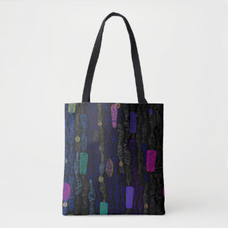 Zigzags vertical from lines tote bag