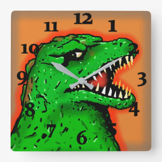 ZILLA GIANT MONSTER RAMPAGE by Jetpackcorps Square Wall Clock