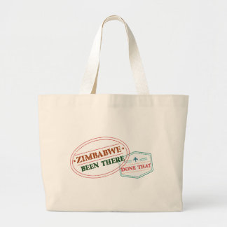 Zimbabwe Been There Done That Large Tote Bag