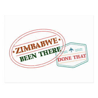 Zimbabwe Been There Done That Postcard