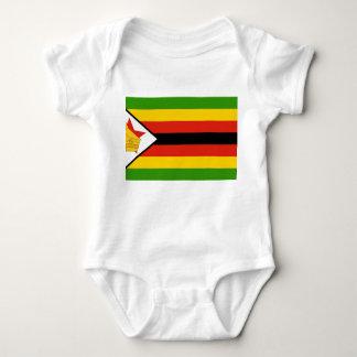 Zimbabwe Flag Baby Bodysuit