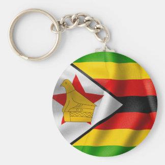 Zimbabwe Flag Basic Button Key Ring