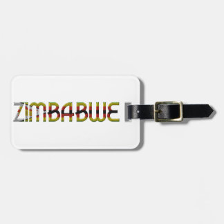 Zimbabwe Flag Colors Typography Southern Africa Luggage Tag