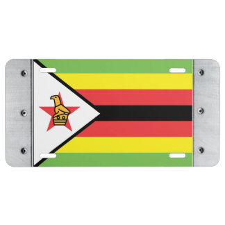 Zimbabwe Flag License Plate