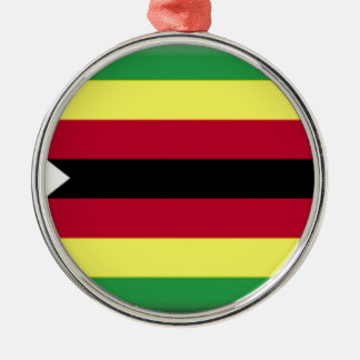 Zimbabwe Flag Metal Ornament