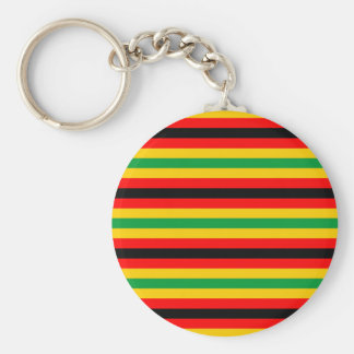 Zimbabwe flag stripes lines country colors keychain