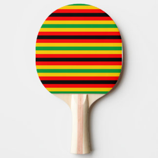 Zimbabwe flag stripes lines country colors ping pong paddle
