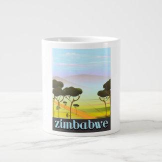 Zimbabwe landscape travel poster large coffee mug