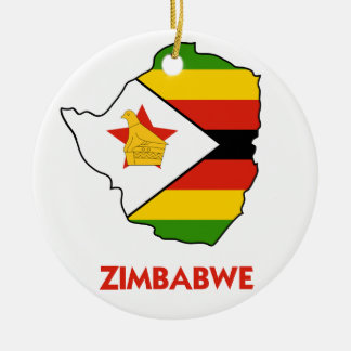 ZIMBABWE MAP CERAMIC ORNAMENT