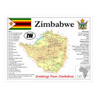 Zimbabwe map Postcard