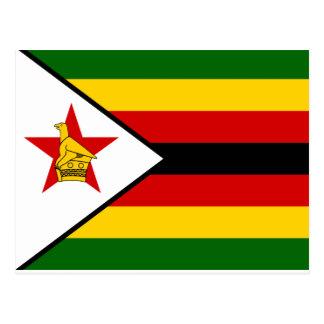 Zimbabwe National World Flag Postcard
