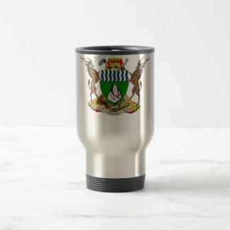 Zimbabwe Official Coat Of Arms Heraldry Symbol 15 Oz Stainless Steel Travel Mug