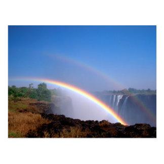 Zimbabwe, Victoria Falls National Park. Double Postcard