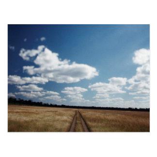 Zimbabwe, View of road near Linkwasha Airstrip 1 Postcard