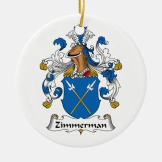 Zimmerman Family Crest Ceramic Ornament