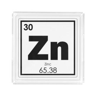 Zinc chemical element symbol chemistry formula gee acrylic tray