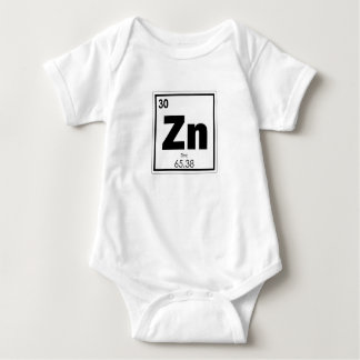 Zinc chemical element symbol chemistry formula gee baby bodysuit