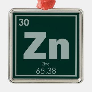 Zinc chemical element symbol chemistry formula gee metal ornament