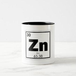 Zinc chemical element symbol chemistry formula gee Two-Tone coffee mug