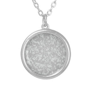 Zinc Plate Background Silver Plated Necklace
