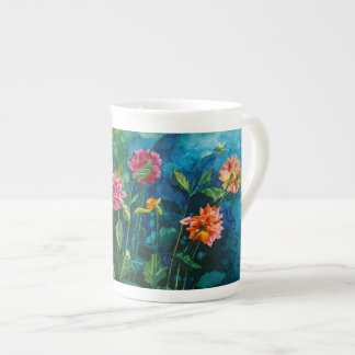 Zinnia bone china tea cup