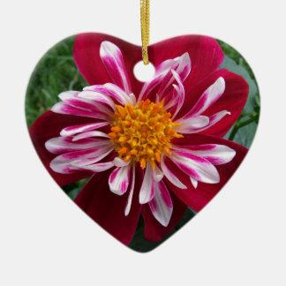 Zinnia Ceramic Heart Ornament