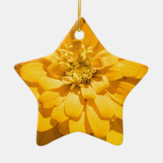 Zinnia Ceramic Star Ornament