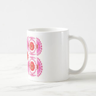 ZINNIA Flower Collage -  Pink Rose Colors Mugs