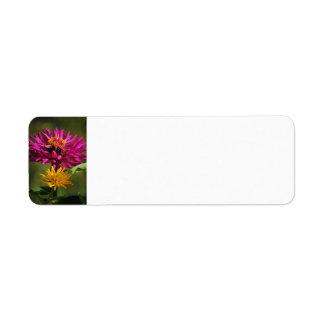 Zinnia Flowers Avery Label
