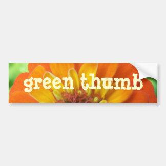 Zinnia, Green-Thumb Bumper Sticker