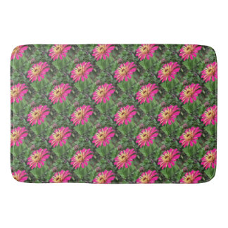 ZINNIA - Vibrant Pink and Cream - Bath Mat