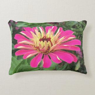 ZINNIA - Vibrant Pink and Cream - Decorative Pillow
