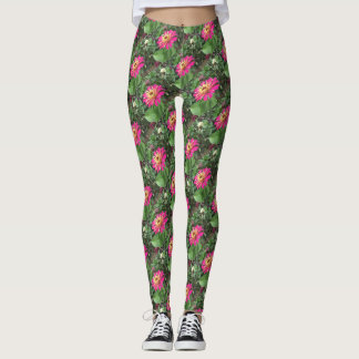 ZINNIA - Vibrant Pink and Cream ECHO PRINT - Leggings