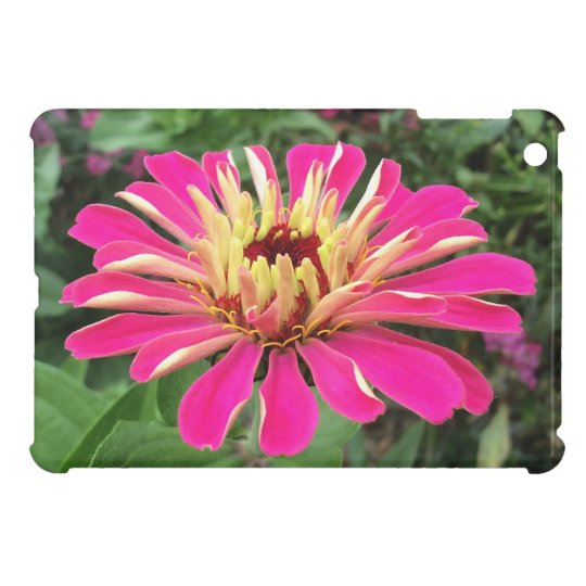 ZINNIA - Vibrant Pink and Cream - iPad Mini Cover
