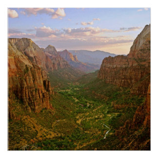 zion angels landing utah poster FROM 8.99