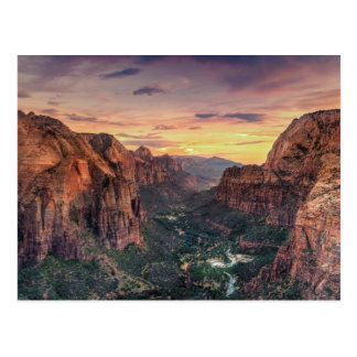 Zion Canyon National Park Postcard