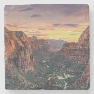 Zion Canyon National Park Stone Coaster