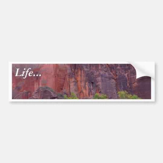 Zion Canyons Big Bend Cliffs Red Bumper Sticker