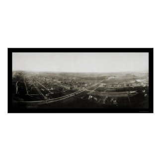 Zion City, Illinois Aerial View Photo 1904 Poster