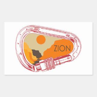 Zion Climbing Carabiner Sticker