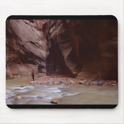 Zion Hiker The Sweetie Hiking In Zion Narrows Mouse Mat