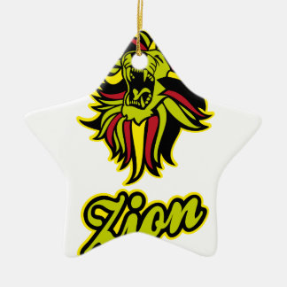 Zion. Iron Lion Zion HQ Edition Color Ceramic Ornament